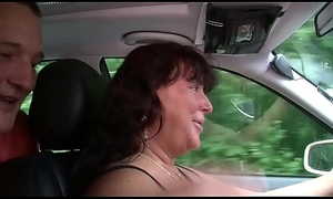 German Cab MILF Helps Consumer Nearby Roger