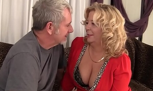 Grandma takes a fat cock added to cum in her mouth