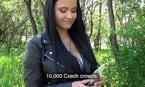 Public Agent Sticky facial be advisable for leader hot Czech teen under railway bridge