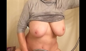 62 year ancient grandma huge tits masturbating